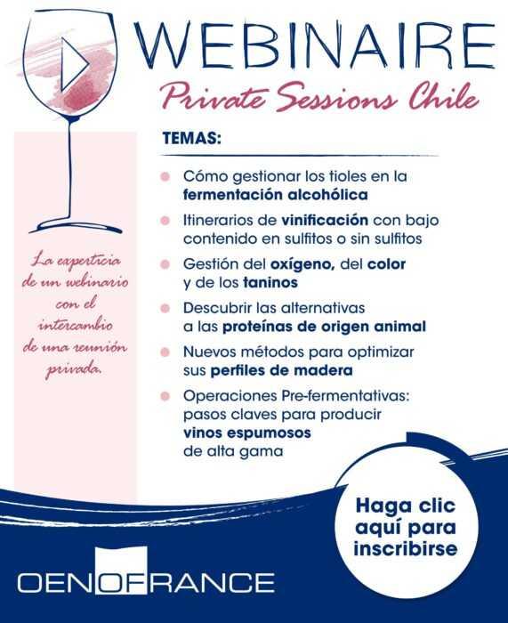 ¡Nuevo! Webinaire Privatte Sessions Chile Oenofrance