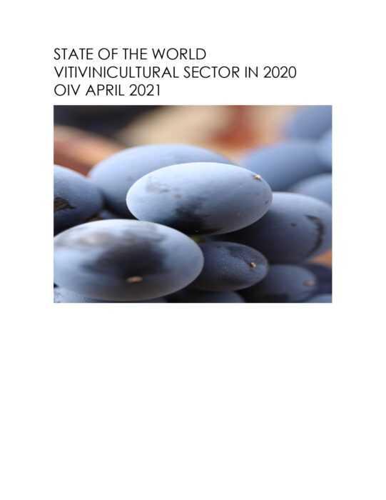 OIV: Coyuntura Vitivinícola Mundial año 2020