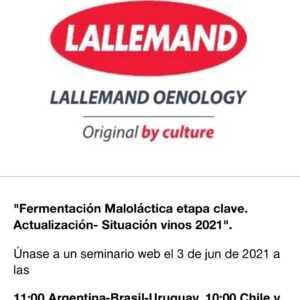 Webinar: Fermentación Maloláctica etapa clave. Actualización-Situación vinos 2021