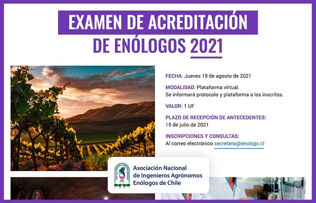Examen de Enólogo 2021